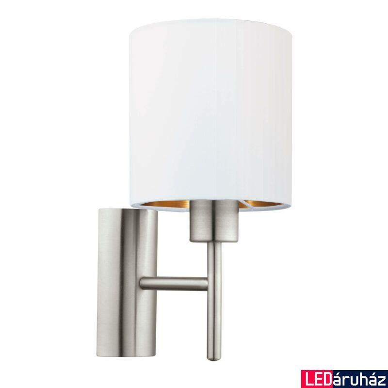 EGLO 95053 PASTERI Textil fali lámpa, 14,5cm, fehér/réz, E27 foglalattal + ajándék LED fényforrás