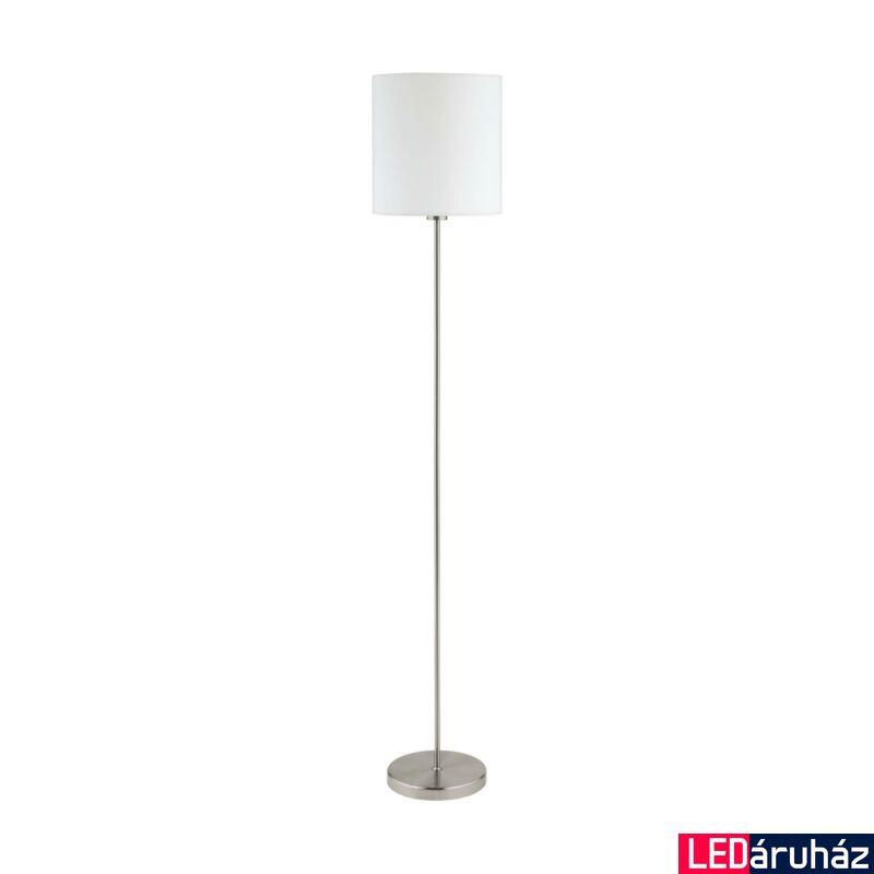 EGLO 95164 PASTERI Textil álló lámpa, 28cm, fehér, E27 foglalattal + ajándék LED fényforrás