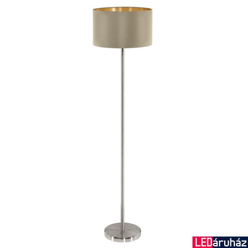 EGLO 95171 MASERLO Textil állólámpa, 38cm, szürkésbarna, E27 foglalattal + ajándék LED fényforrás