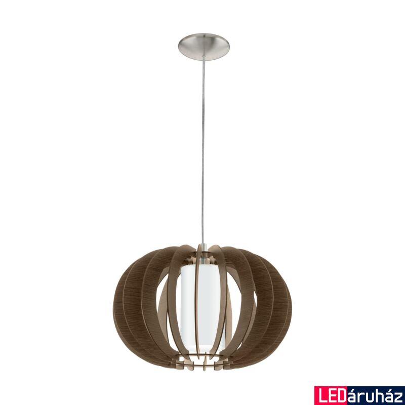 EGLO 95591 STELLATO 3 Fa függesztett lámpa, 40cm, sötétbarna, E27 foglalattal + ajándék LED fényforrás