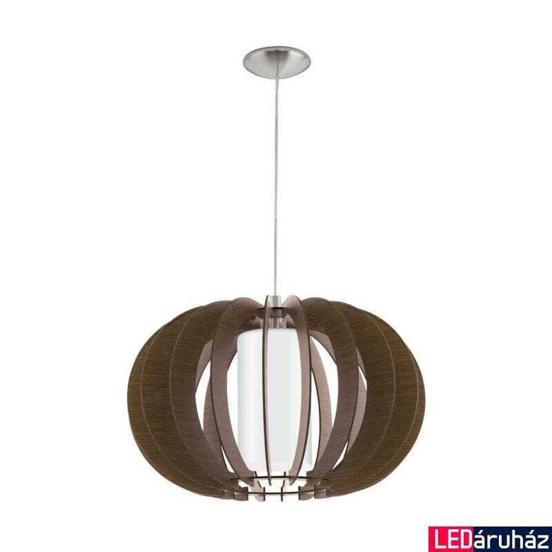 EGLO 95592 STELLATO 3 Fa függesztett lámpa, 50cm, sötétbarna, E27 foglalattal + ajándék LED fényforrás