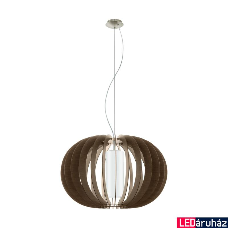 EGLO 95593 STELLATO 3 Fa függesztett lámpa, 70cm, sötétbarna, E27 foglalattal + ajándék LED fényforrás