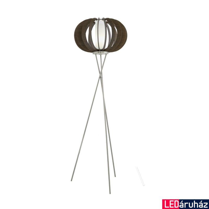 EGLO 95596 STELLATO 3 Fa állólámpa, 50cm, sötétbarna, E27 foglalattal + ajándék LED fényforrás
