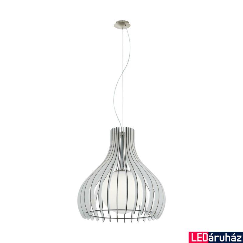 EGLO 96211 TINDORI Fa függesztett lámpa, 50cm, fehér, E27 foglalattal + ajándék LED fényforrás