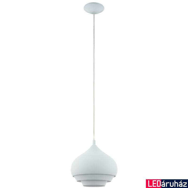EGLO 96883 CAMBORNE Fehér függeszték, E27 foglalattal, 40cm átmérő, 110cm, 60W + ajándék LED fényforrás