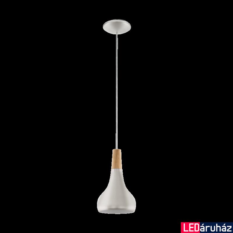 EGLO 96984 SABINAR Ezüst/fa függesztett lámpa, E27 foglalattal, 18cm átmérő, 60W + ajándék LED fényforrás