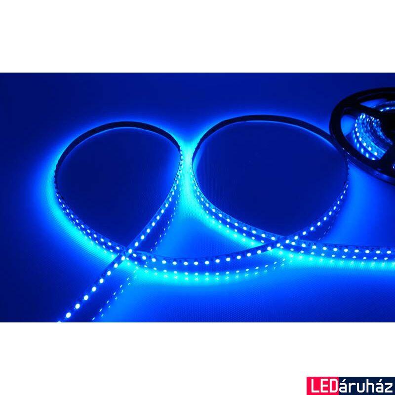 Kék SMD LED szalag 12V 3528 , beltéri 120 LED/m, 9,6W, 2 év garancia