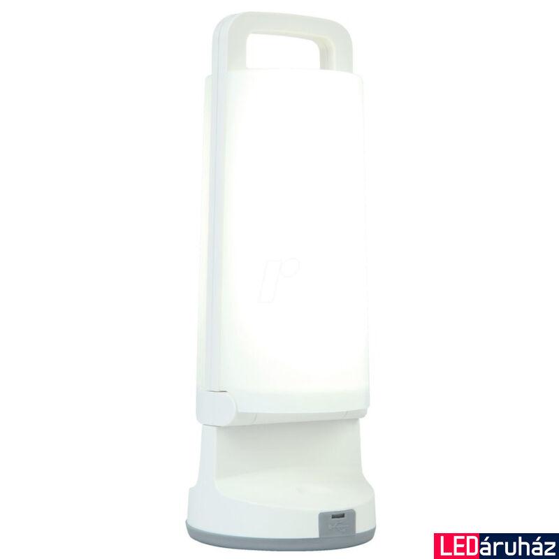 LUTEC Dragonfly szolár hordozható asztali lámpa, 1,2W, 120 lm, 4000K természetes fehér, IP54, fehér, LUTEC-6904101331, P9041 wh