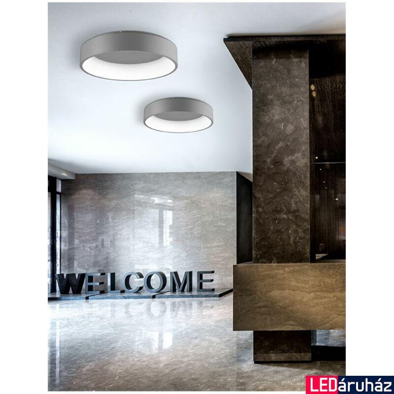 Nova Luce Rando LED mennyezeti lámpa, 60 cm, szürke, 4000K természetes fehér, NLC-6167202