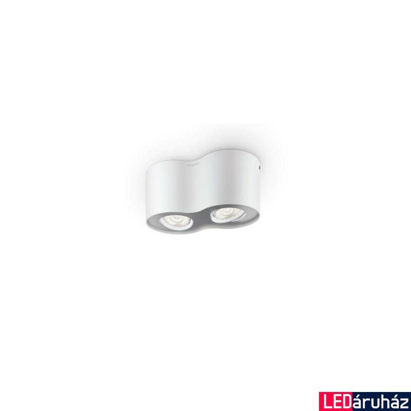 Philips Phase fehér LED kettes szpotlámpa, 2x4,5W, 533023116